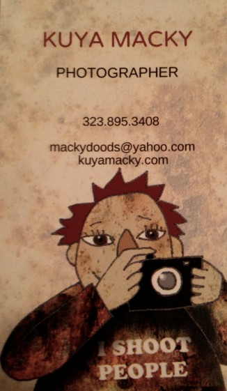 business card, photography